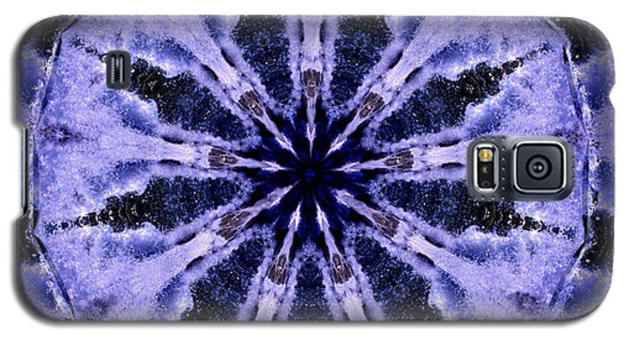 Mandala Galaxy S5 Case featuring the digital art Mandala Ocean Wave by Nancy Griswold