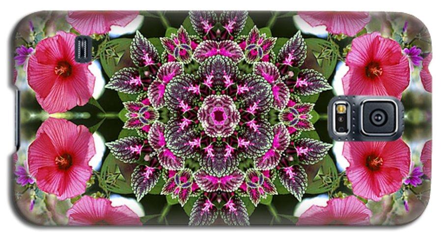 Mandala Galaxy S5 Case featuring the digital art Mandala Pink Patron by Nancy Griswold