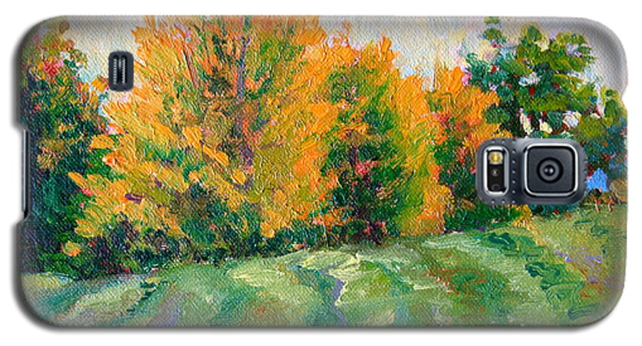 Impressionism Galaxy S5 Case featuring the painting Maple Grove by Keith Burgess