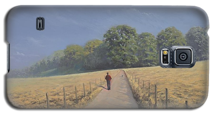 Landscape Galaxy S5 Case featuring the painting Mapledurham by Richard Picton
