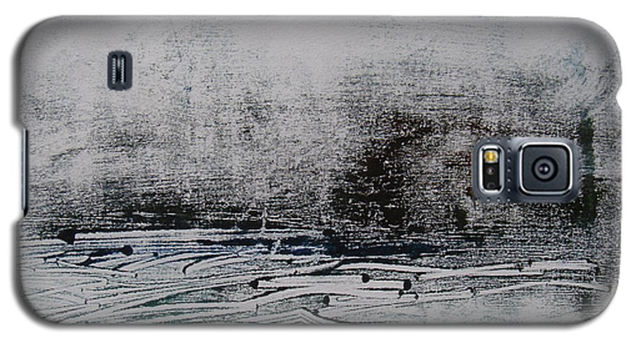 Abstract Galaxy S5 Case featuring the painting Marais 1 by Muriel Dolemieux