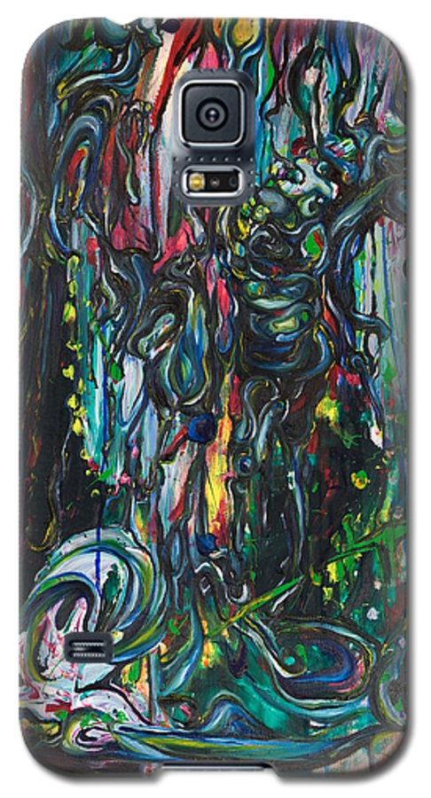 Surreal Galaxy S5 Case featuring the painting March Into The Sea by Sheridan Furrer