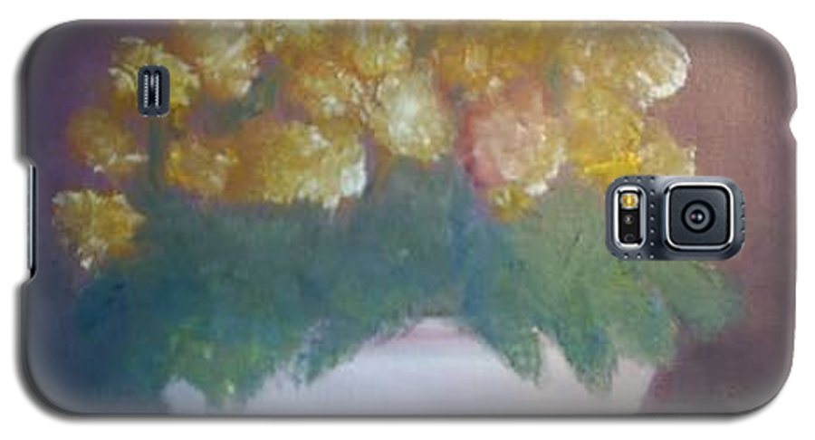 Marigolds Galaxy S5 Case featuring the painting Marigolds by Sheila Mashaw