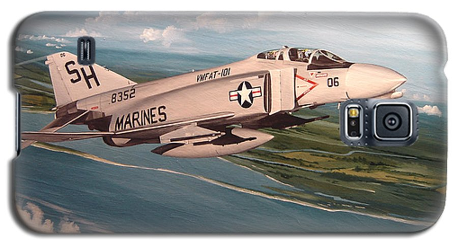 Aviation Galaxy S5 Case featuring the painting Marine Phantom by Marc Stewart