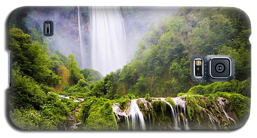 Italy Galaxy S5 Case featuring the photograph Marmore Waterfalls Italy by Marilyn Hunt