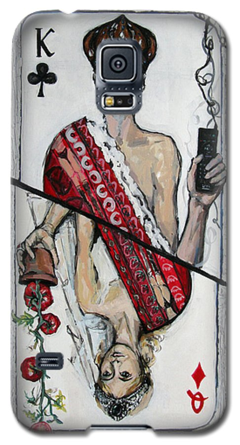 Marriage Galaxy S5 Case featuring the painting Marriage by Mima Stajkovic