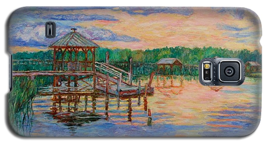 Landscape Galaxy S5 Case featuring the painting Marsh View At Pawleys Island by Kendall Kessler