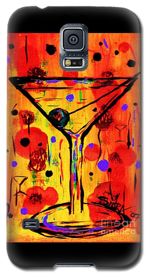 Martini Galaxy S5 Case featuring the painting Martini Twentyfive Of Sidzart Pop Art Collection by Sidra Myers