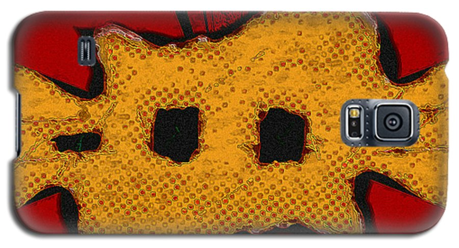 Orange Galaxy S5 Case featuring the digital art Masquerade 1 by Dee Flouton