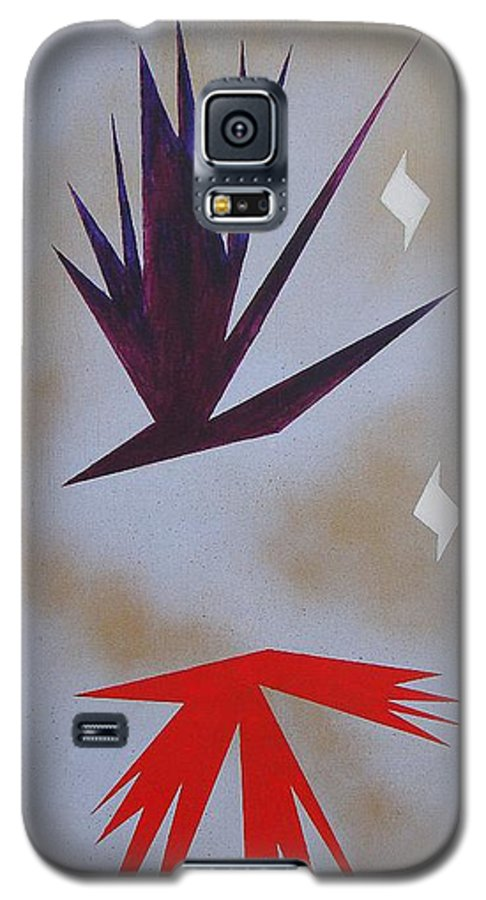 Birds Galaxy S5 Case featuring the painting Mating Ritual by J R Seymour