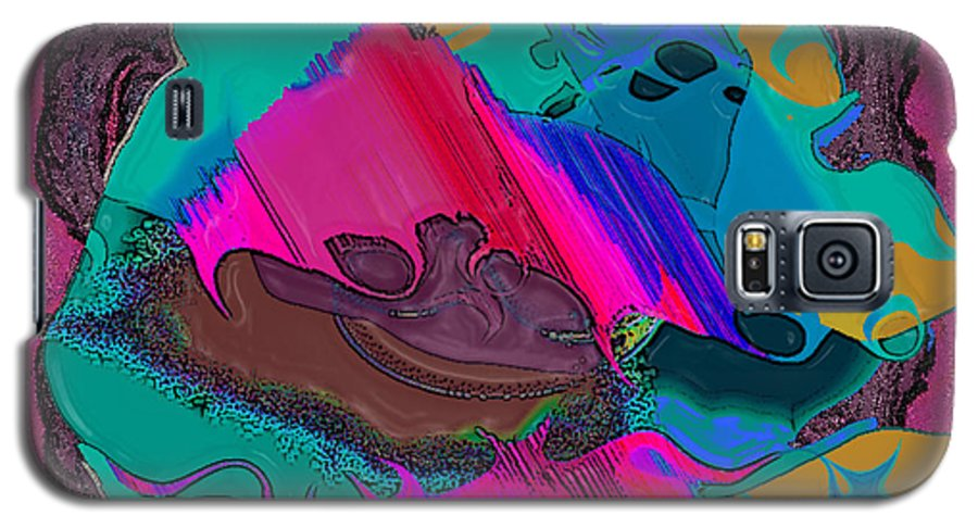 Ebsq Galaxy S5 Case featuring the digital art Mauve Abstract by Dee Flouton