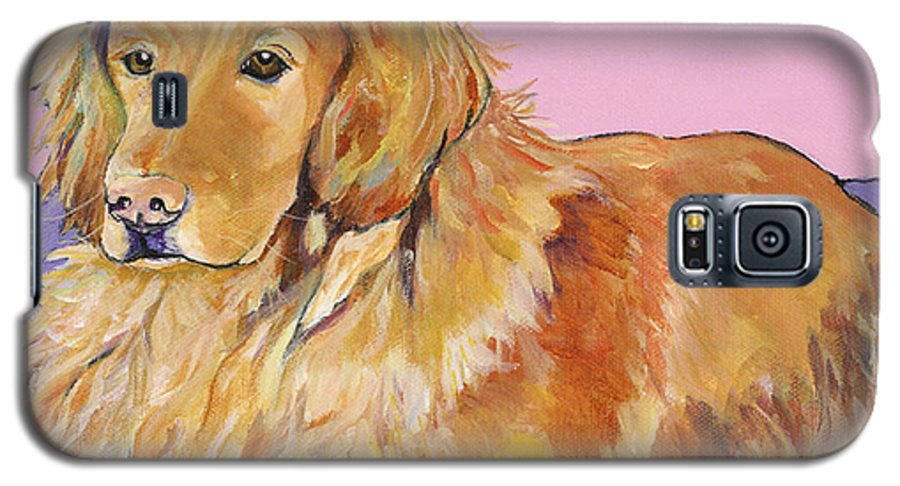 Golden Retriever Galaxy S5 Case featuring the painting Maya by Pat Saunders-White
