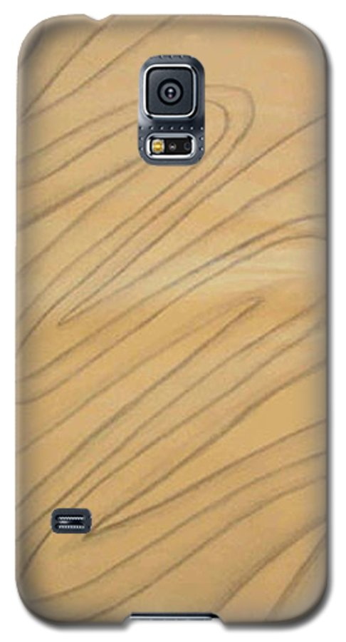 Abstract Galaxy S5 Case featuring the drawing Maze Of Life Drawing by Natalee Parochka