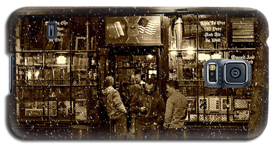 Mcsorley's Old Ale House Galaxy S5 Case featuring the photograph Mcsorley's Old Ale House by Randy Aveille