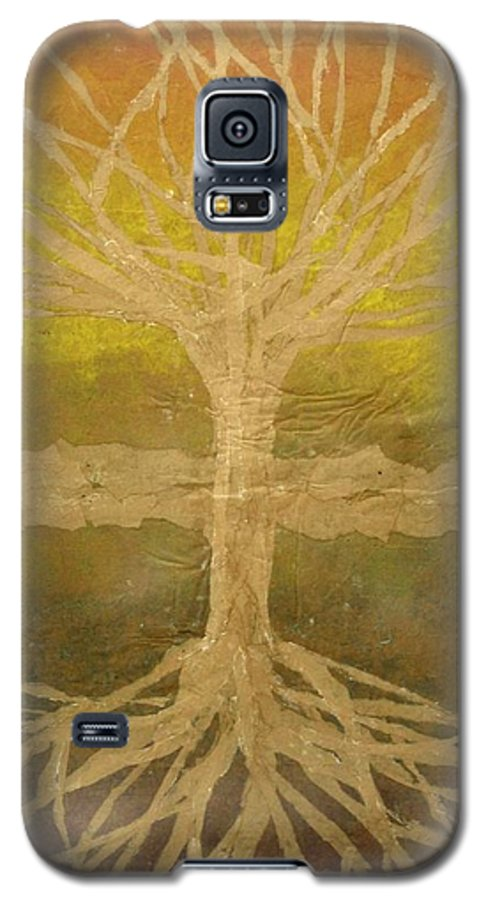 Abstract Galaxy S5 Case featuring the painting Meditation by Leah Tomaino