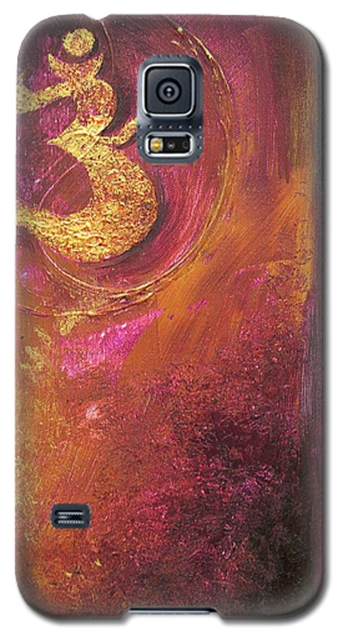 Ohm Om Mantra Yoga Spiritual Buddhist Meditationabstract Galaxy S5 Case featuring the painting Meditations by Dina Dargo