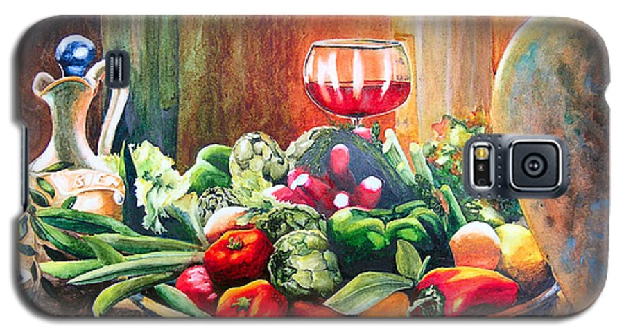 Still Life Galaxy S5 Case featuring the painting Mediterranean Table by Karen Stark