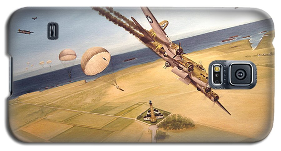 Aviation Galaxy S5 Case featuring the painting Mehitabel by Marc Stewart