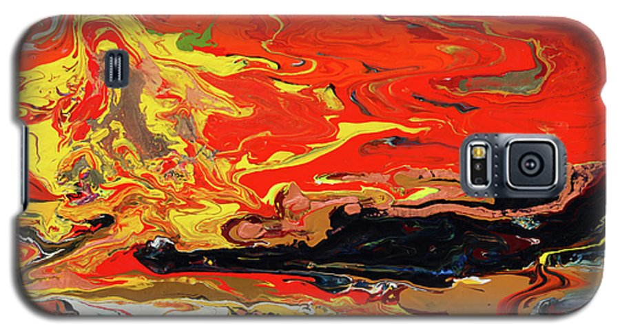 Fusionart Galaxy S5 Case featuring the painting Melt by Ralph White