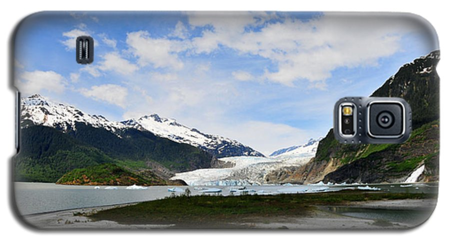 Mendenhall Galaxy S5 Case featuring the photograph Mendenhall Glacier by Keith Gondron