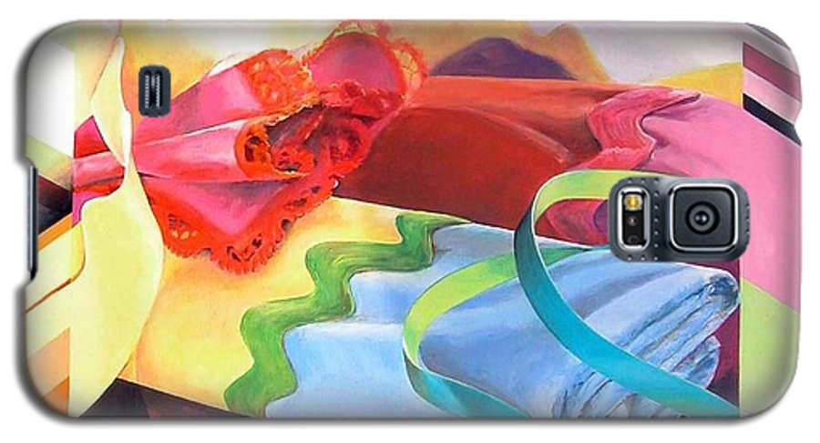 Still Life Galaxy S5 Case featuring the painting Mercerie by Muriel Dolemieux