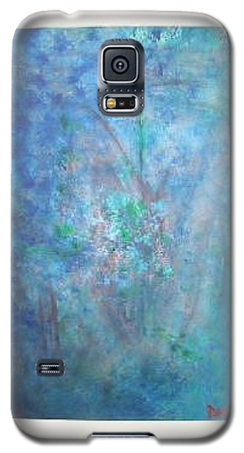Metal Galaxy S5 Case featuring the painting Metal And Water Abstract. by Lizzy Forrester