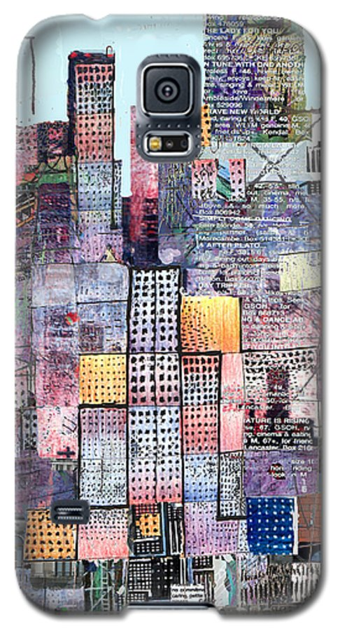 Metro Galaxy S5 Case featuring the digital art Metropolis 3 by Andy Mercer