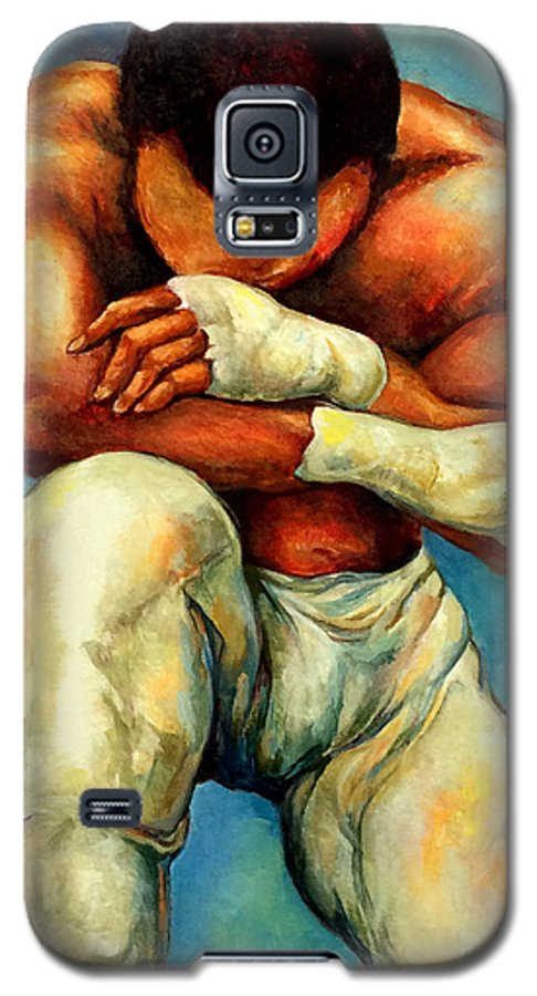 Lloyd Debery Galaxy S5 Case featuring the painting Michael Original by Lloyd DeBerry