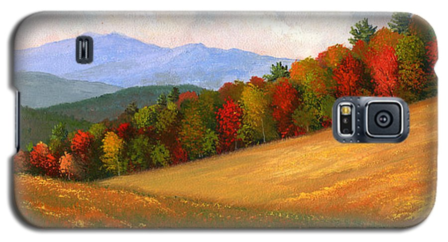 Landscape Galaxy S5 Case featuring the painting Mid Autumn by Frank Wilson