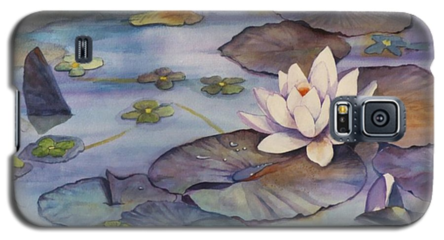 Lily Galaxy S5 Case featuring the painting Midnight Lily by Jun Jamosmos