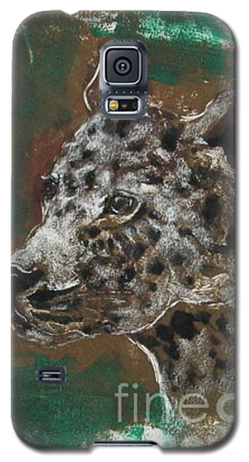 Monotype Galaxy S5 Case featuring the mixed media Midnight Prowler by Cori Solomon