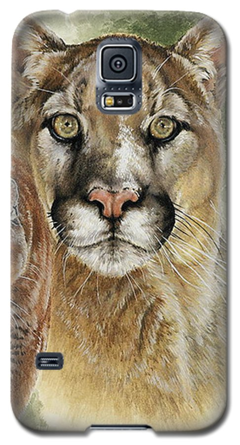 Cougar Galaxy S5 Case featuring the mixed media Mighty by Barbara Keith