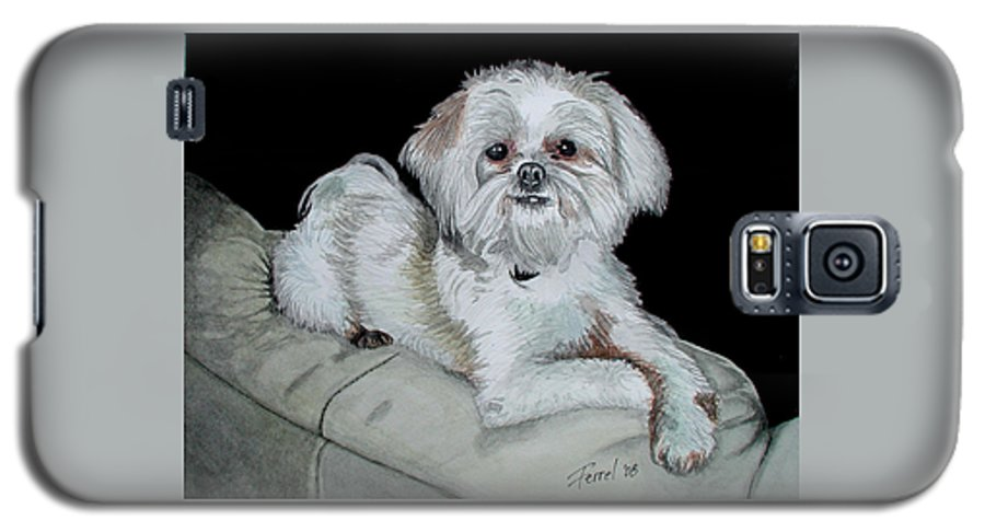 Dog Galaxy S5 Case featuring the painting Miki Dog by Ferrel Cordle
