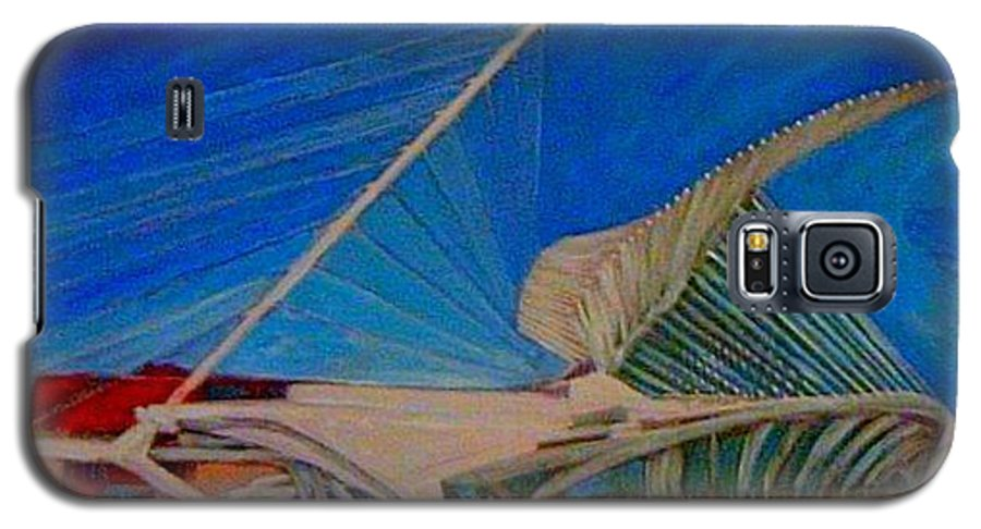 Mam Galaxy S5 Case featuring the mixed media Milwaukee Art Museum by Anita Burgermeister