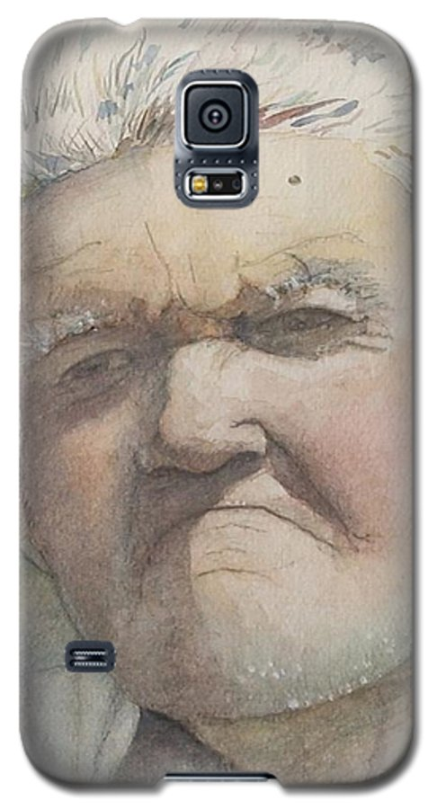 Portrait Galaxy S5 Case featuring the painting Minnesota Farmer by Nadine Rippelmeyer