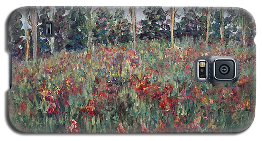 Landscape Galaxy S5 Case featuring the painting Minnesota Wildflowers by Nadine Rippelmeyer