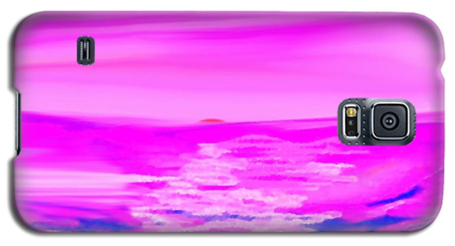 Sunset Galaxy S5 Case featuring the digital art Miracle Sunset-sun And Sky In One Dance by Dr Loifer Vladimir