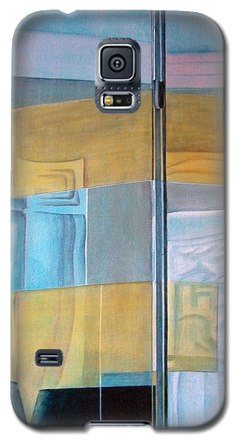 Miroir Galaxy S5 Case featuring the painting Miroir by Muriel Dolemieux