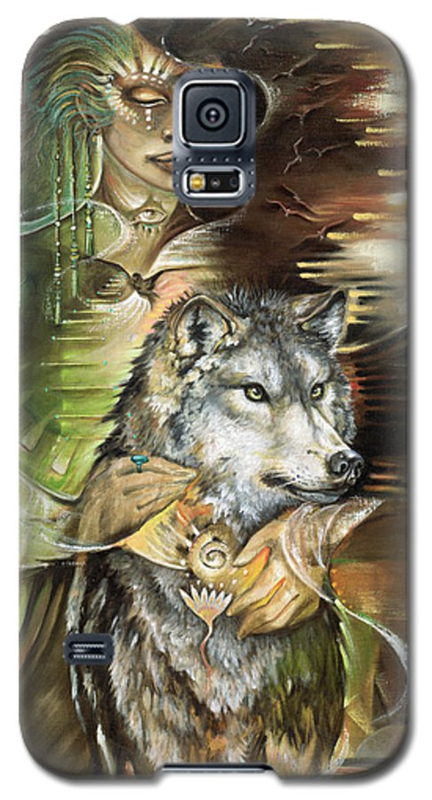 Animals Galaxy S5 Case featuring the painting Missing You Susan Boulet by Blaze Warrender