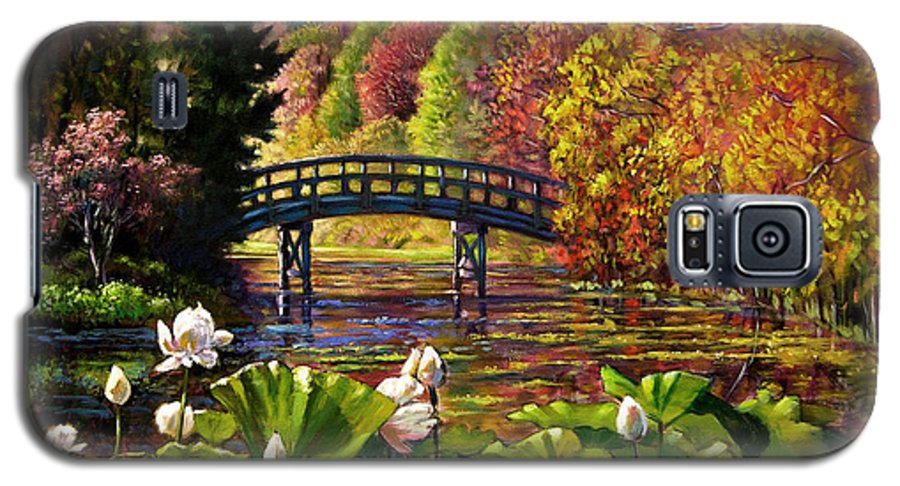 Landscape Galaxy S5 Case featuring the painting Missouri Memories by John Lautermilch
