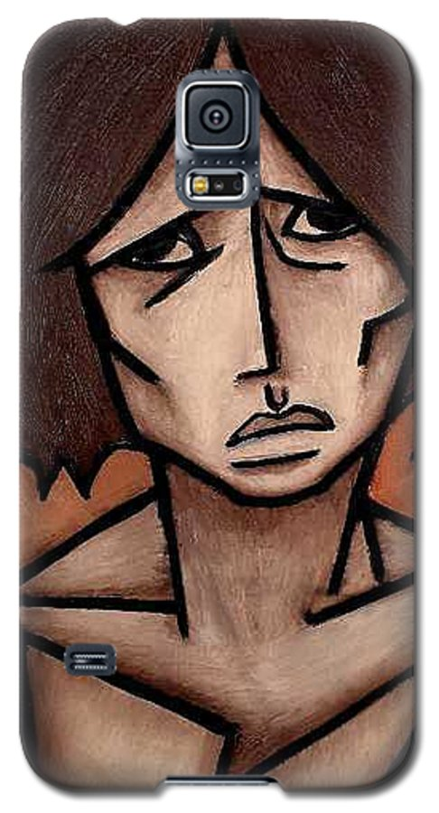 Potrait Galaxy S5 Case featuring the painting Missy by Thomas Valentine