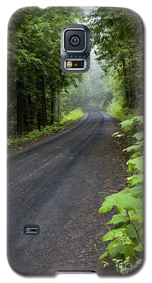 Road Galaxy S5 Case featuring the photograph Misty Mountain Road by Idaho Scenic Images Linda Lantzy