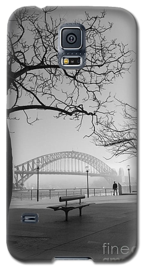 Sydney Harbour Bridge Mist Australia Galaxy S5 Case featuring the photograph Misty Sydney Morning by Sheila Smart Fine Art Photography