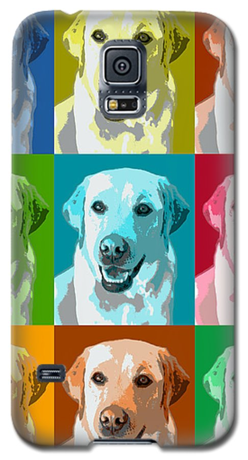 Americana Galaxy S5 Case featuring the photograph Golden Retriever Warhol by Marilyn Hunt