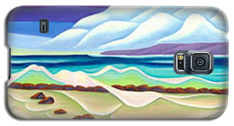 Landscape Galaxy S5 Case featuring the painting Moana Kai Surf by Lynn Soehner
