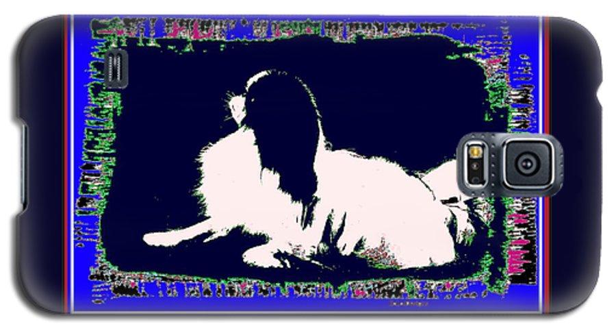 Mod Dog Galaxy S5 Case featuring the digital art Mod Dog by Kathleen Sepulveda