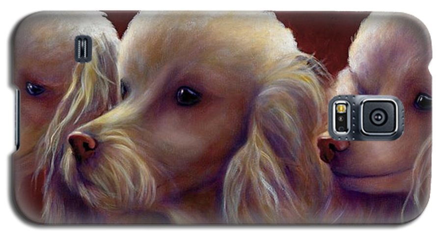 Dogs Galaxy S5 Case featuring the painting Molly Charlie And Abby by Shannon Grissom