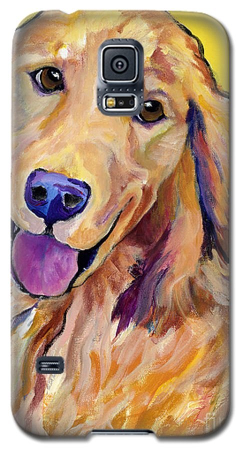 Acrylic Paintings Galaxy S5 Case featuring the painting Molly by Pat Saunders-White