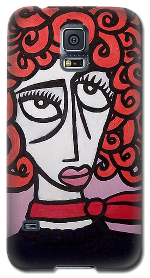 Portaits Galaxy S5 Case featuring the painting Molly by Thomas Valentine