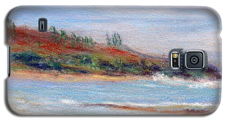 Coastal Decor Galaxy S5 Case featuring the painting Moloa'a Beach by Kenneth Grzesik